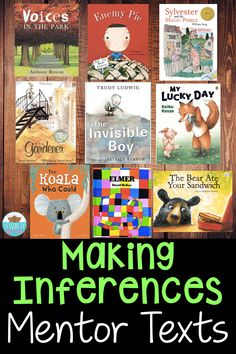 Books for teaching inferencing- strategies and ideas for modeling making inferences with these mentor texts! 4th Grade Ela, First Grade Reading, Third Grade Books, Grade 3, Reading Skills, Teaching Reading, Reading Response, Reading Logs, Close Reading