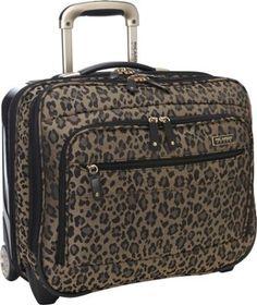"Ricardo Beverly Hills Crystal City 16"" Wheeled Tote Gold Leopard - via eBags.com!"