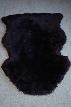 Black Washable Sheepskin