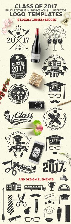 Class Of 2017 — Photoshop PSD #celebrate • Download ➝ https://graphicriver.net/item/class-of-2017/19591918?ref=pxcr