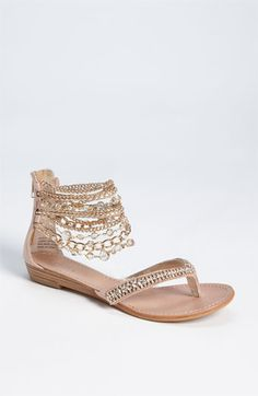 Zigi Girl 'Marla' Sandal // I could see the beading breaking with any significant wear, but still gorgeous