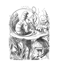 John Tenniel - The Caterpillar and Alice looked at each other for some time in silence