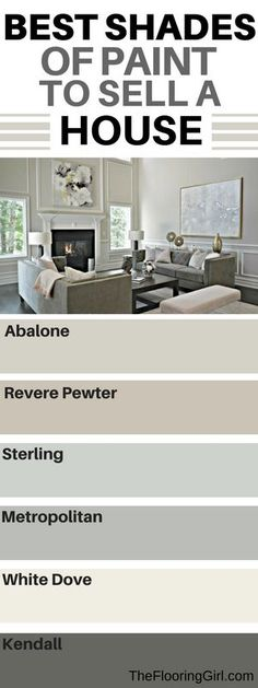 Best paint colors to sell a house. Which shades should you use? #Painting #shades #homedecor #gray #paint #realestate #staging