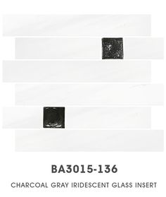 White Dolomiti Marble Glass Mosaic Backsplash Tile BA3015-136