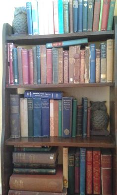 #bookspines  Battered and bruised but loved and well used  via @PennyPargeter