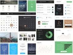 Cool looking website widgets from Monica Web UI Kit Mobile App Templates, Visual Hierarchy, Ui Elements, Ui Kit, Web Design, Website, Ideas, Design Web, Thoughts