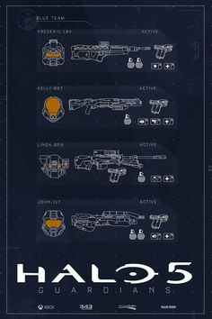 Self-initiated poster set for Halo 5 of both Blue Team and Fireteam Osiris.Cannot wait for Halo 5 to come out! Halo 5, Halo Game, Odst Halo, Halo Tattoo, John 117, Playstation, Halo Armor, Halo Master Chief, Halo Series