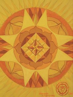 Manipura Chakra | Navel Chakra (Solar Plexus). °3rd Solar Plexus Chakra Mandala by JenniferChristenson