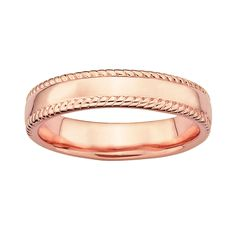 IceCarats 925 Sterling Silver Pink Plated Band Ring Size Stackable Fancy/ Fine Jewelry Gift Set For Women Heart Pink Plates, Rose Gold Plates, Gift Sets For Women, 18k Rose Gold, Stacking Rings, Band Rings, Sterling Silver Rings, Jewelry Rings, Fine Jewelry