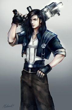 Fan art from Final Fantasy VIII, this time Laguna . The Man With the Machine Gun Arte Final Fantasy, Final Fantasy Artwork, Final Fantasy Characters, Final Fantasy Collection, Anime Toon, World Of Fantasy, Game Character, Character Outfits, Character Design