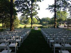 The Hyatt Lodge - Oak Brook's serene outdoor setting provides plenty of space for your wedding.