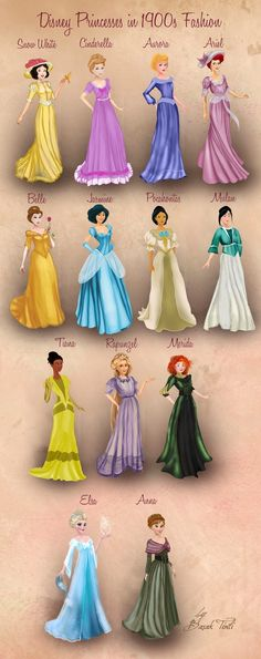 Enjoy the Disney Princess mode at the beginning of the 20th century by Basak Tinli .