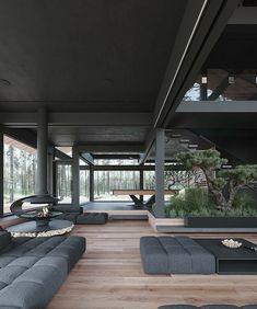 Dream House Interior, Luxury Homes Dream Houses, Dream Home Design, Modern House Design, Home Interior Design, Loft House Design, Interior Designing, Modern Architecture House, Interior Architecture