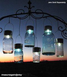 Outdoor Event Lighting Mason Jar Solar Lights, Wedding Lights, Hanging Lanterns for Parties, Garden or Events, no jars