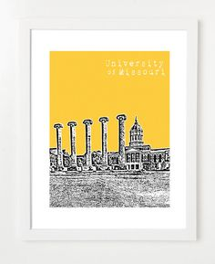 Super cute Mizzou print! Check out this website for cool University prints