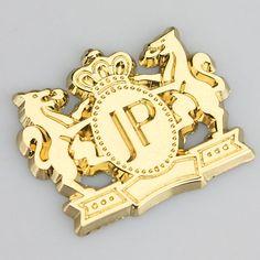Fashion Luxury Junction Produce JP Emblem Lion 3M Premium 3D metal Car Auto Badge Sticker Logo VIP Gold Silver Car Styling