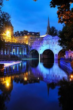 Late Night, Bath, England - This is an amazing city! Places Around The World, Oh The Places You'll Go, Places To Travel, Places To Visit, Around The Worlds, Somerset England, England And Scotland, England Uk, Wonderful Places