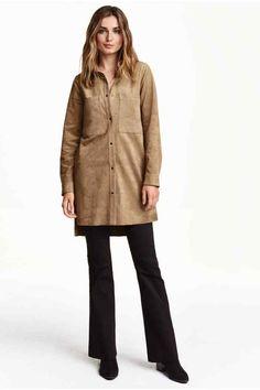 Vestido camiseiro curto   H&M