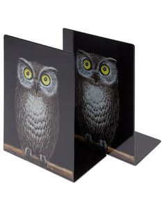 FORNASETTI - owl book ends by farfetch