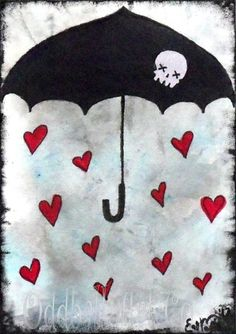 'Raindrops of Love Signed Art Print by Lizzy Love ' is going up for auction at  6pm Wed, Nov 7 with a starting bid of $6.