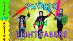 Kids TV Active enjoy some kids fun playing sword fights and lightsabre shenanigans, which is sure to make everyone laugh at this family friendly and fun kids. Kids Fun, Cool Kids, Kids Tv Shows, Lightsaber, Sword, Entertaining, How To Plan, Youtube, Youtubers