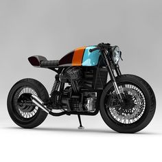 @ziggymoto getting wild with the Gulf paint job on this Honda CX500 concept. Great work as always! #dropmoto #honda #cx500
