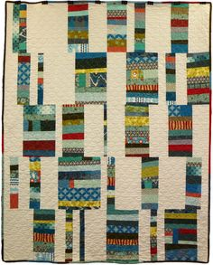Scrappy Stripes by Andrea Deal from the book Block Party