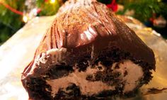 Felicity's perfect yule log. Photograph: Felicity Cloake