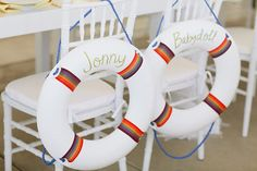 Life raft chair signage  | photo by Joielala | design by Jesi Haack | 100 Layer Cake