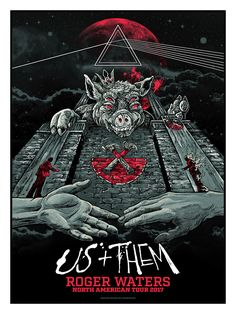 Roger Waters Us Them Tour Poster By AngryBlue Release
