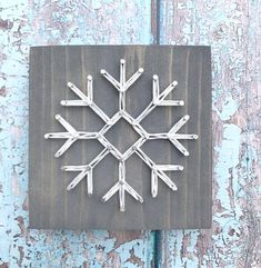 Gray Stain, Little Snowflake, Felt Ball Garland, Snow Flakes, Cute Packaging, Picture Hangers, String Art, Dollar Tree, Art Boards