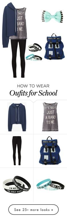 """""""School"""" by bandsformybae on Polyvore featuring J Brand, ONLY and MANGO"""