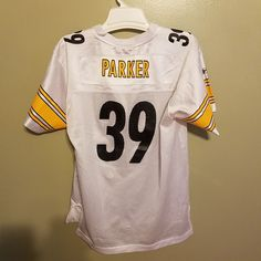 51e11e30bc6 PITTSBURGH STEELERS WILLIE PARKER FOOTBALL JERSEY SIZE XL 18-20 YOUTH