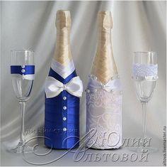 """Купить Свадебное шампанское """"Гусарская баллада"""" - украшение шампанского, украшения шампанского, украшение для шампанского"""