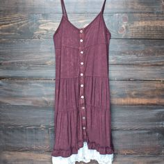 mimosas on the beach dress - vintage burgundy - shophearts - 1