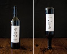 """I wanted to create what appeared at first glance to be a somewhat traditional hand illustrated bottle of wine. I was interested with taking conceptual queue from the importance wine holds within a religious context but also the influence wine has on the individual when consumed."""