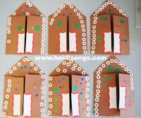 A Gingerbread House Card, A Paper Plate Angel, and The Gingerbread Man – Heidi Songs Preschool Christmas, Christmas Activities, Christmas Art, Preschool Crafts, Crafts For Kids, Arts And Crafts, Gingerbread Man Activities, Gingerbread Crafts, Gingerbread Houses