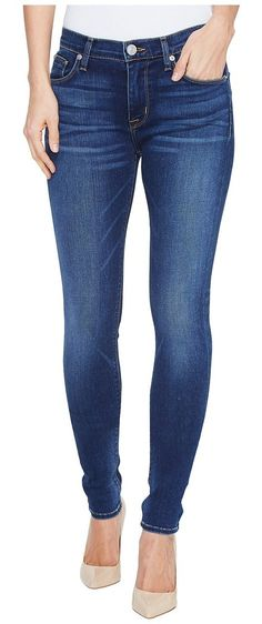Hudson Nico Mid-Rise Supermodel Skinny Five-Pocket Jeans in Blue Gold (Blue Gold) Women's Jeans - Hudson, Nico Mid-Rise Supermodel Skinny Five-Pocket Jeans in Blue Gold, WM407LDED-BGLO, Apparel Bottom Jeans, Jeans, Bottom, Apparel, Clothes Clothing, Gift - Outfit Ideas And Street Style 2017