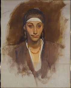 Egyptian Woman with Earrings John Singer Sargent (American, Florence 1856–1925 London)