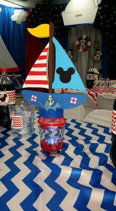 Mickey nautical sailor centerpiece  beta fish tank