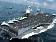 The Queen Elizabeth Class aircraft carriers will be the biggest and most powerful surface warships ever constructed for the Royal Navy. Iraqi Military, Military Aircraft, Navy Aircraft, Marina Real, Hms Queen Elizabeth, Navy Carriers, Indian Navy, Naval, Navy Ships