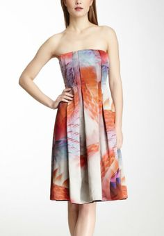 Giorgio Armani Multicolor Printed Silk Dress
