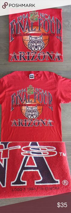 || vintage || UofA Wildcats '94 Final Four Tee Vintage UofA Wildcats '94 Final Four t-shirt.  Great condition, small hole in back shown in photos 7 & 8. Size large Vintage Shirts Tees - Short Sleeve