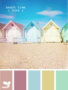 pretty beach huts