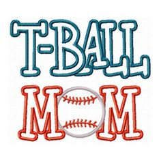 TBall Mom Embroidery Machine Applique Design 906 by JakkisDesigns, $4.99