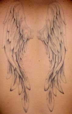 tattoos of wings on back | ... tattoo, and one of the first full-back wing tattoos in existence