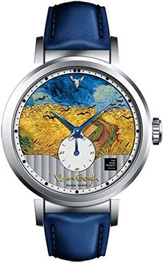 Swiss Movement Watch Leather Strap Bracelet Watch Wheat Field with Crow(Painting) Van Gogh Swiss Watch Women's Watch with Geneva Striped and Small Seconds,Replica Van Gogh Three-Dimensional Painting. Simple Watches, Cute Watches, Retro Watches, Cheap Watches, Vintage Watches, Women's Watches, Watches Online, Latest Women Watches, Steel Jewelry