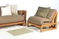 Home :: Sofa Beds :: Single Sofa Beds :: Loop - Single Seater Solid Oak Sofa Bed