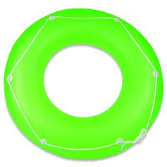 Constructed in vinyl. Available in Pink, Green, and Yellow. Recommended for ages Pool Toys, Frost, Tube, Swimming, Neon, Outdoor Decor, Yellow, Rings, Swim