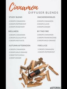 Cinnamon diffuser blends